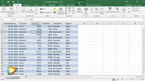 excel  pivot tabellen tutorial pivot tabelle