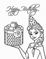 Coloring Birthday Elsa Frozen Present Disney Printable Sheets Printables Happy Cards Holiday Anna Presents Wuppsy Cake Princess Colorings Getcolorings Coloringpagesonly sketch template