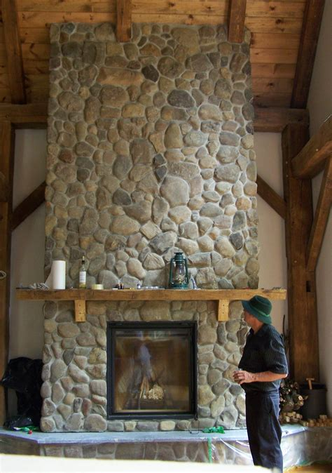 river rock fireplace fireplaces