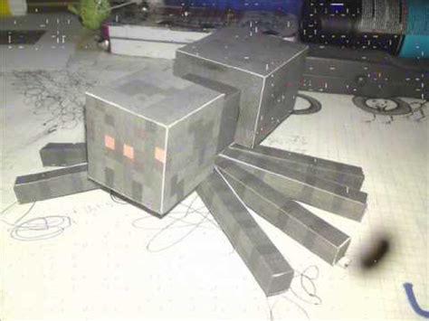 minecraft papercraft spinnespider bastelanleitungcraft