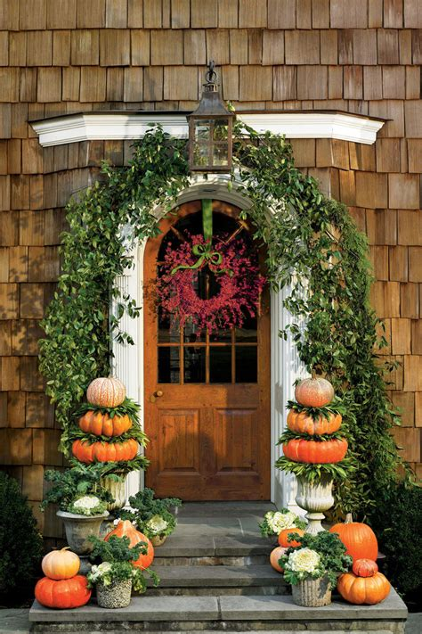Fall Porch Displays by Front Porches That Us So Ready For Fall Southern Living
