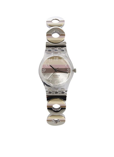swatch dameshorloge metallic dune lk  de bijenkorf jewellery dune swatch metal