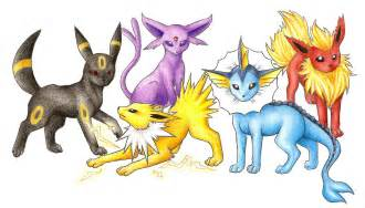 Pokemon Shiny Eevee Evolutions