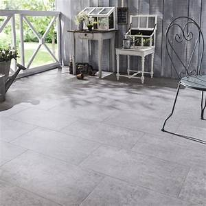 carrelage exterieur gris effet beton carrelage idees With carrelage effet beton