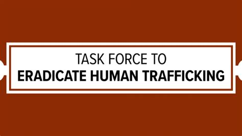 task force  eradicate human trafficking  chamber