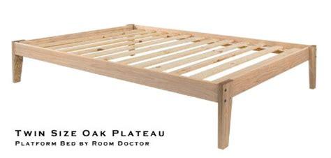 Solid Oak Platform Bed Frame
