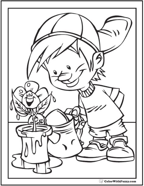 april showers coloring pages flowers coloring page 28 customizable printables