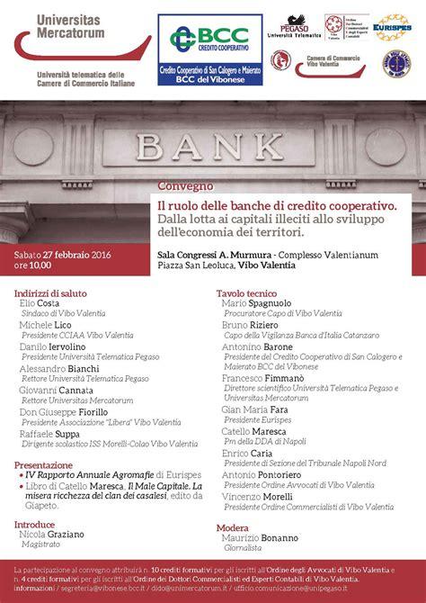 convegno il ruolo delle banche  credito cooperativo
