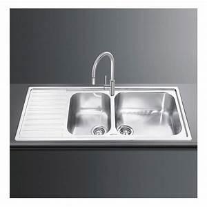 smeg lg116s 116cm alba double bowl left hand drainer sink With alba sinks