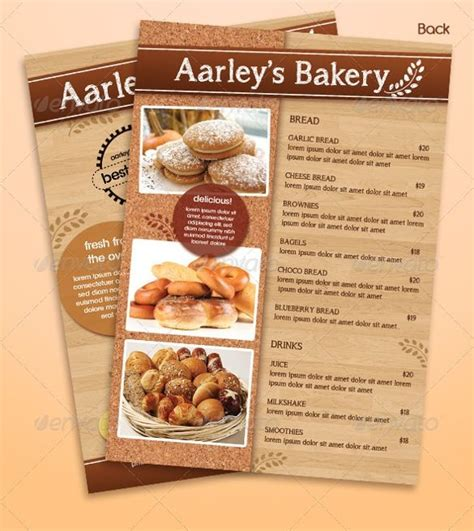 bakery flyer design templates    images