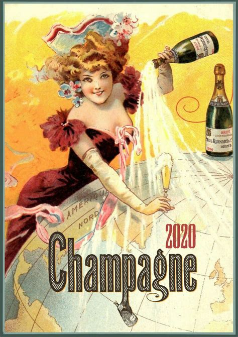 wall calendar pages champagne lady ads