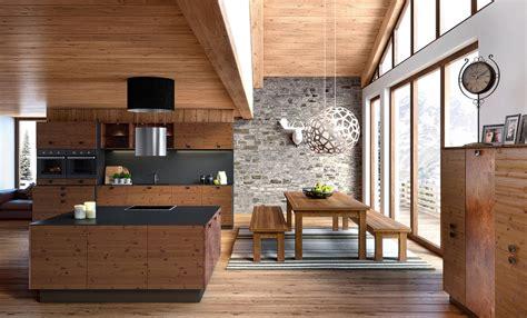 cuisine de chalet cuisine et bois agencement de cuisine à ève