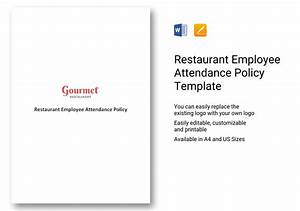 Cease And Desist Template Restaurant Employee Attendance Policy Template In Word