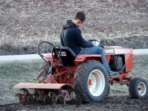 case ingersoll 448 garden tractor rototilling ground youtube