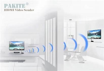 Signal Av Sender Wireless Pakite Cable Wirelessly