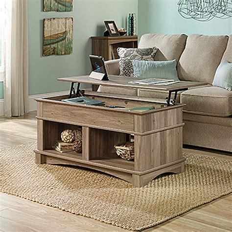 harbor view lift top coffee table salt oak
