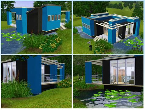 A Colorful Modern Home Designed With Usability In Mind by Mod The Sims Colors Three Modern And Colorful Houses
