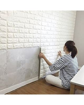 remarkable deal  pcs  brick wall stickers pe foam
