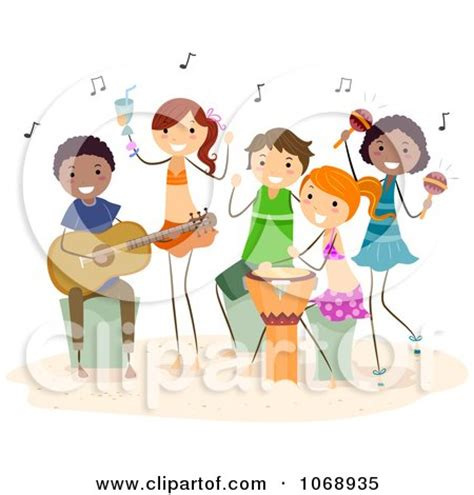 clipart kids singing  playing instruments