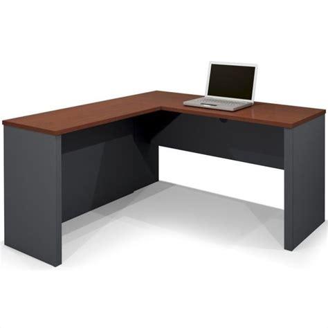 computer desk l shaped bestar prestige l shape bordeaux graphite computer desk ebay