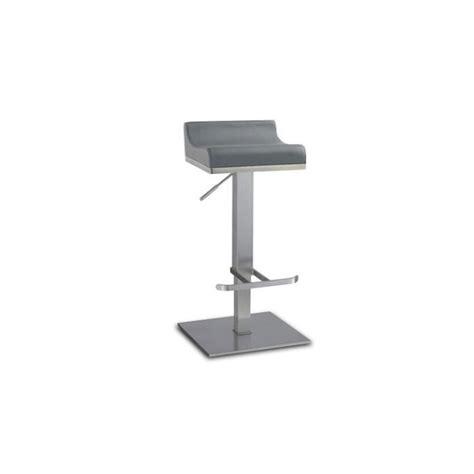 chaise pour table haute tabouret de bar réglable en inox brossé 65 90cm dalllas