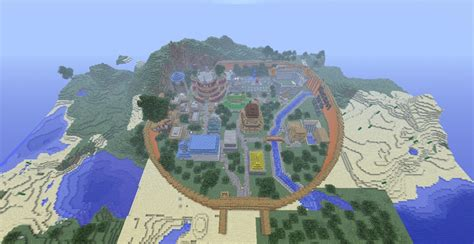 Naruto Konoha (hidden Leaf Village) Minecraft Project