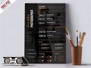 Professional Cv Templates Free Download Photographer Resume Cv Psd Template By Psd Freebies On