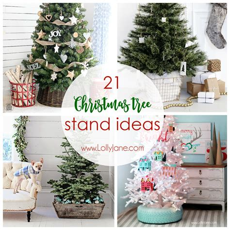 how to stand a real christmas tree 21 tree stand ideas lolly
