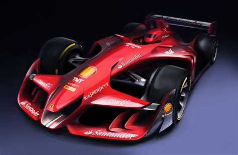 ferrari future f1 car concept cars diseno art