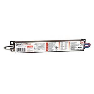 ge 120 to 277 volt electronic ballast for 4 ft 2 l t12 fixture ge240rsmvn diyb the home depot
