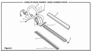 Homelite Extended Reach Hedge Trimmer Ut44180 Parts