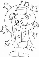 Circus Coloring Colouring Clown Bear Printable Ringmaster Magician Teddy Carnival Preschool Sheets Crafts Activities Theme Animal Printables Preschoolers Animals Bestcoloringpages sketch template