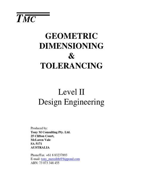 GD&T Book Complete | Engineering Tolerance | Technical Drawing