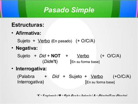 Presentación Sobre Pasado Simple