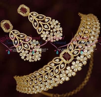 Gold Choker Jewellery Necklace Designs Plated Ad