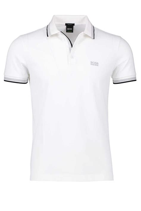 poloshirt hugo regular fit poloshirt hugo paddy wit