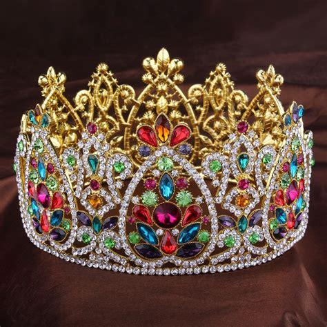 height big king queen golden full crowns