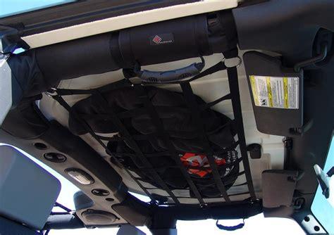 jeep wrangler overhead storage overhead cargo net storage mike jeep ideas pinterest