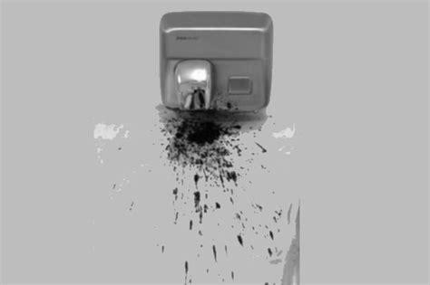 heres   bacteria hand dryers  spreading
