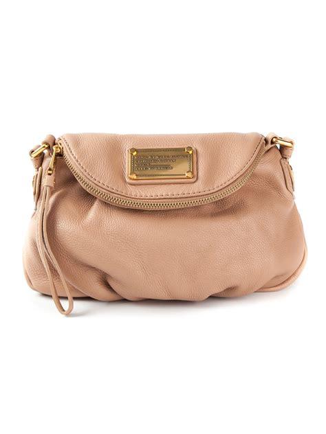 lyst marc  marc jacobs mini classic  natasha shoulder bag  natural