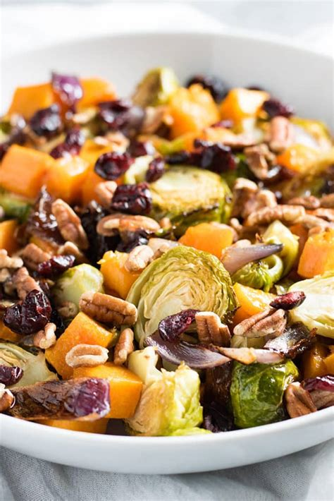 cranberry pecan roasted vegetables  salty marshmallow
