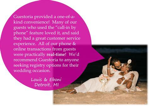 money wedding registry guestoria gift wedding registry official site