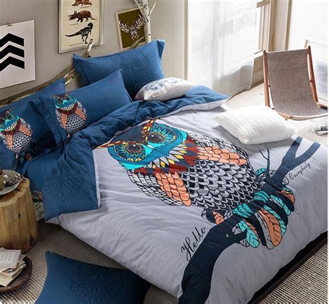 aliexpress com buy queen owl bedding set king size