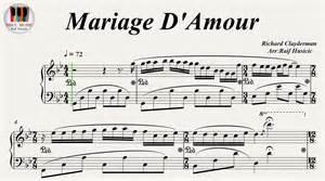 mariage amour mariage d 39 amour paul de senneville richard clayderman piano
