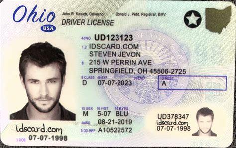 ohio fake id driver license  scannable id card idscardcom