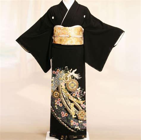 kuro tomesode   formal   dress japanese