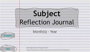 reflective journal template teaching like an artist reflection journal template and