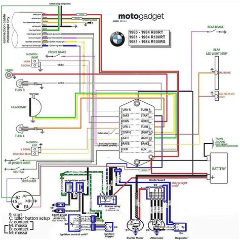 elektrisch schema is af bmw r100 en motogadget munit motoscope vmoc info bmw cars