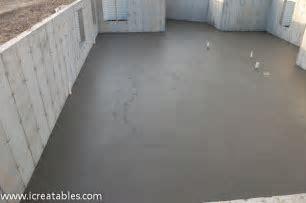 Pour Basement Concrete Slab For New Home   icreatables.com