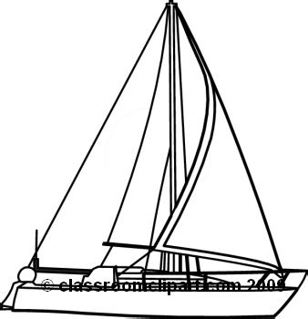Boat Outline Pictures by Sailboat Outline Clipart Best